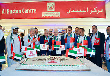 Cake Cutting Al Bustan Centre during UAE NAtional Day 2018
