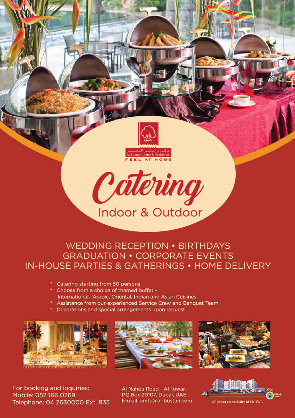Indoor and Outdoor Catering