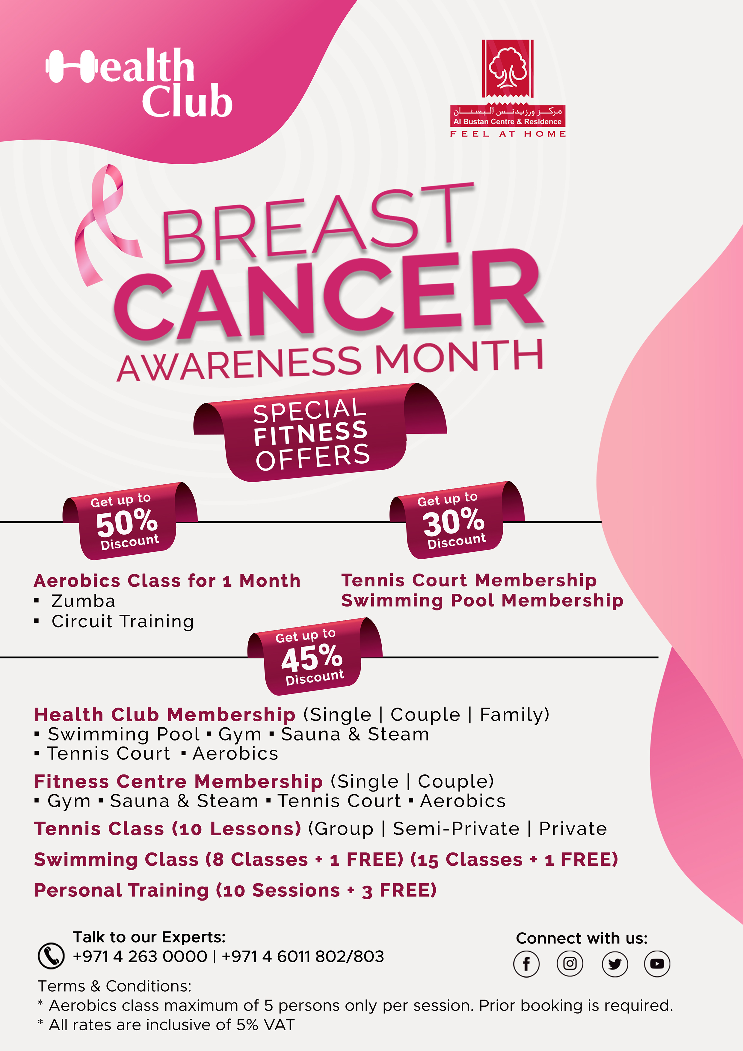 Health Club – Breast Cancer Awareness Fitness Promo